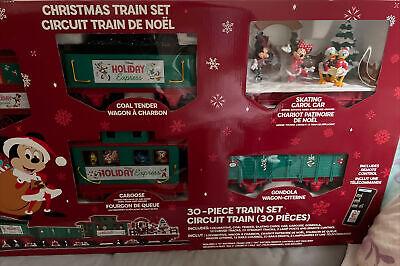New! Disney Parks Mickey & Friends Christmas Train Set Circuit 30-Piece 2020 NWT