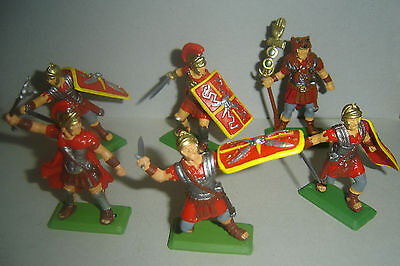 ROMANS red clothes on foot ARGENTINA DSG Plastic Toy Soldiers set  Britains