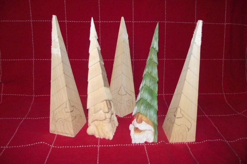 Peek-a-Boo Santa Christmas tree - Basswood Woodcarving Blank