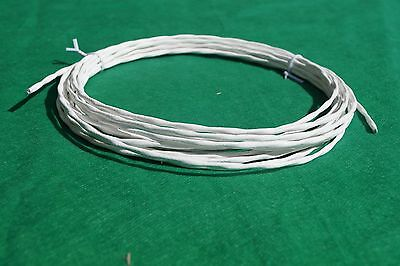 10 Ft 20 Awg Shielded Silver Plated Ptfe Wire Twisted Pair 7 Strand Cable.
