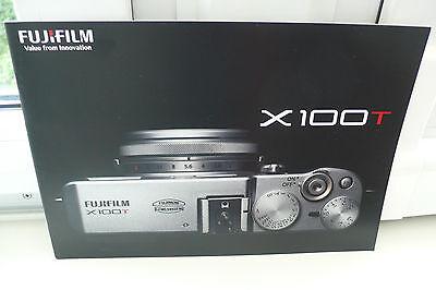 2014 FUJIFILM X100 T  FUJI KAMERA PROSPEKT PHOTOAPPARAT KATALOG CAMERA BROCHURE
