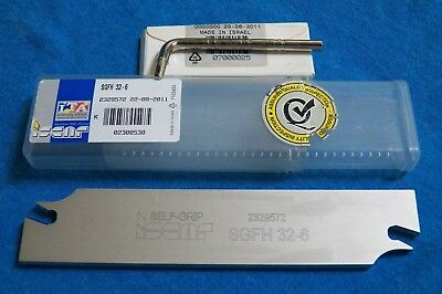 Sgfh 32-6 Iscar Self-grip Partingcutoff And Grooving Blade Double Sided