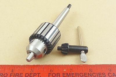 New Genuine Mt1 Jacobs 0 - 38 Capacity Tailstock Drill Chuck 4 Lathe Key