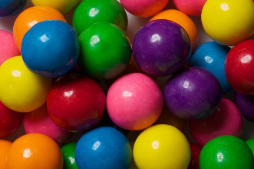 "Dubble Bubble ASSORTED 1"" 24mm Gum balls Bulk Vending 3 lbs Approx 170 Gumballs"