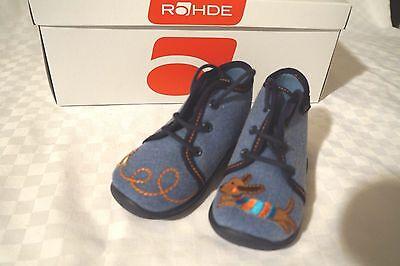 Jungen Knochen (Rohde Hausschuhe Kinderhausschuhe Schuhe Jungen Gr. 20 Jeansblau  Hund & Knochen)