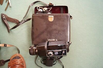 FILM MOVIE CINE CAMERA YASHICA SUPER 800 ELECTRO VINTAGE WITH BOX MIT TASCHE