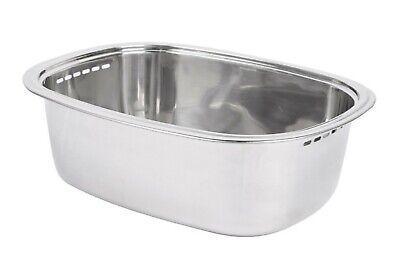 Characin Stainless Steel Dishpan Basin Dish Washing Bowl Tub (Rounded Rectangle)