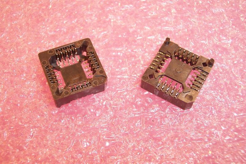 QTY (38)  20 PIN SMD PLCC SOCKETS AMP 822270-1