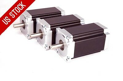 Usa Free Ship 3pcs 57bygh Nema34 Stepper Motor 1232oz 5.6a 4wires For Cnc Kits