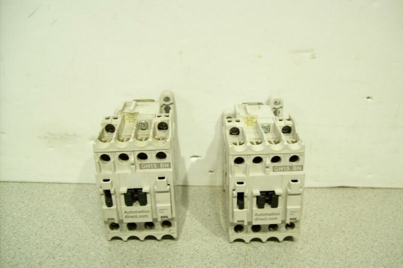 Lot of 2 Automation Direct N.O. Contactor GH15BN 120VAC 30A Coil Tested Working