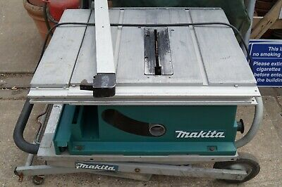 Makita 2704 X/1 Table Saw and Stand 110v used