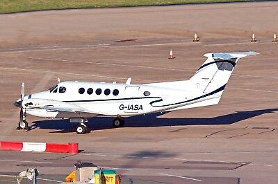 IAS Medical Beech B200 Super King Air G-IASA Wick Arrival 24-11-2017 Postcard