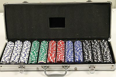 600 Poker Chip Set in Metal Carrying Case, No Cards Or Dice, Dealer Chip