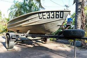 12 ft Aluminium boat / tinnie   15hp Johnson Outboard   trailer