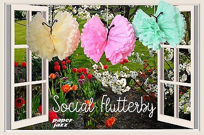 9 DIY paper pom pom butterfly for wedding birthday baby shower party decoration - Butterfly Decorations Party