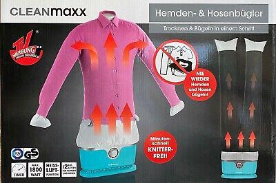 CLEANmaxx Hemdenbügler Hosenbügler Bügelpuppe für Hemden, Blusen, Hose