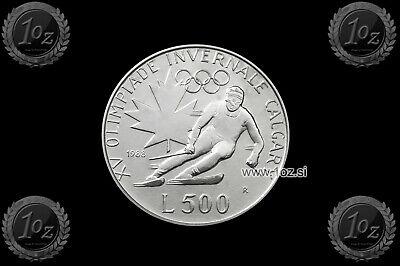 coin KM# 29 SAN MARINO 500 LIRE 1973 UNC GIRL holding DOVE SILVER Commem
