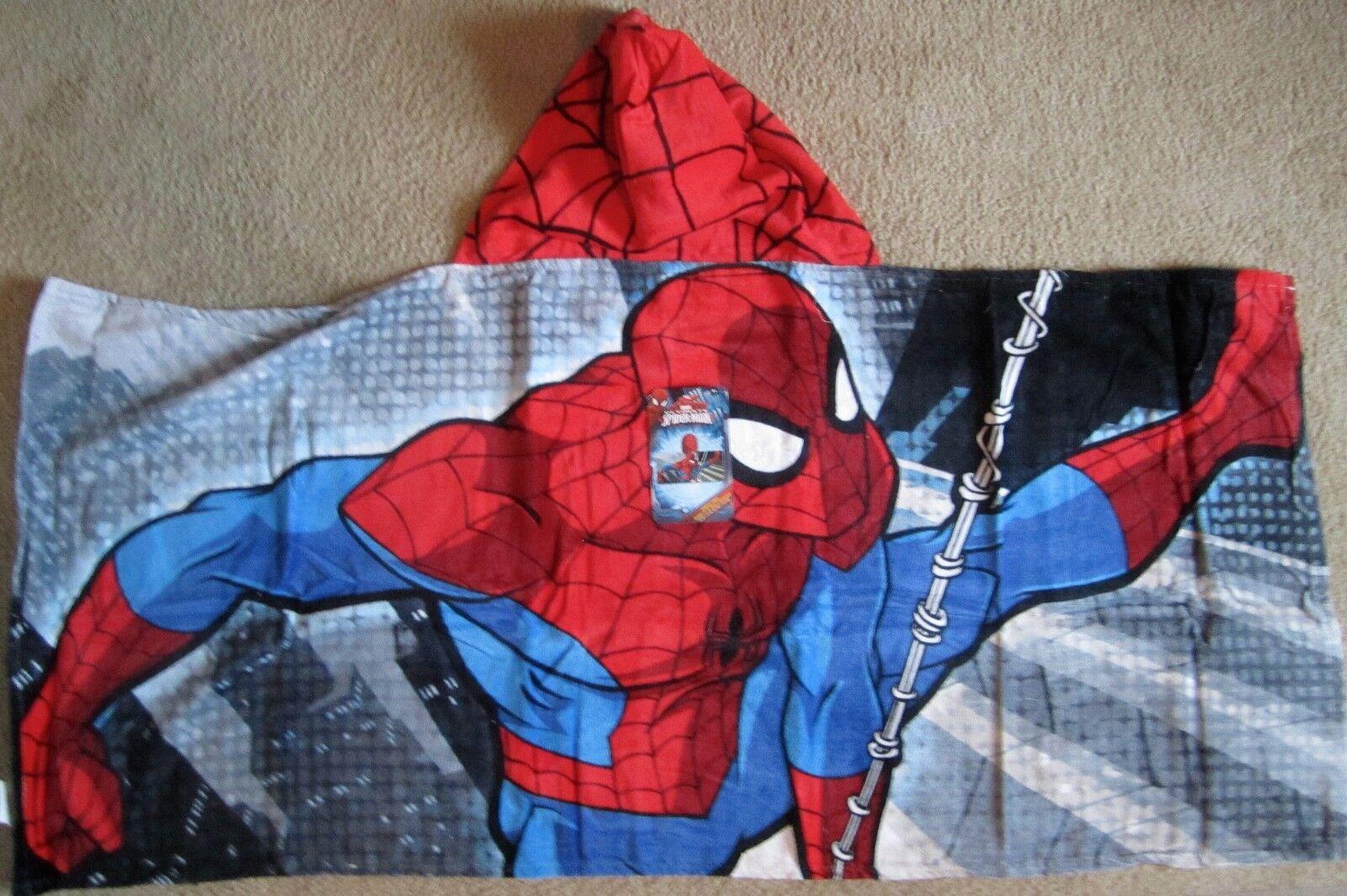 Amazing Spider-Man Cotton Hooded Poncho Bath Beach Towel Mar