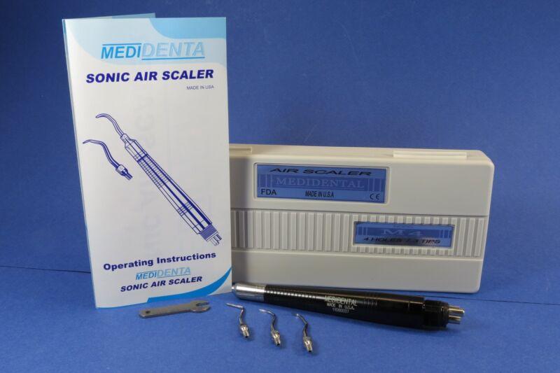 Dental Air Scaler Handpiece 4 Holes M4 3 Tips MEDIDENTAL USA