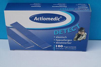 100 x Fingerpflaster 12x2 elastisch detectable Pflaster blau Gastronomie Hygiene