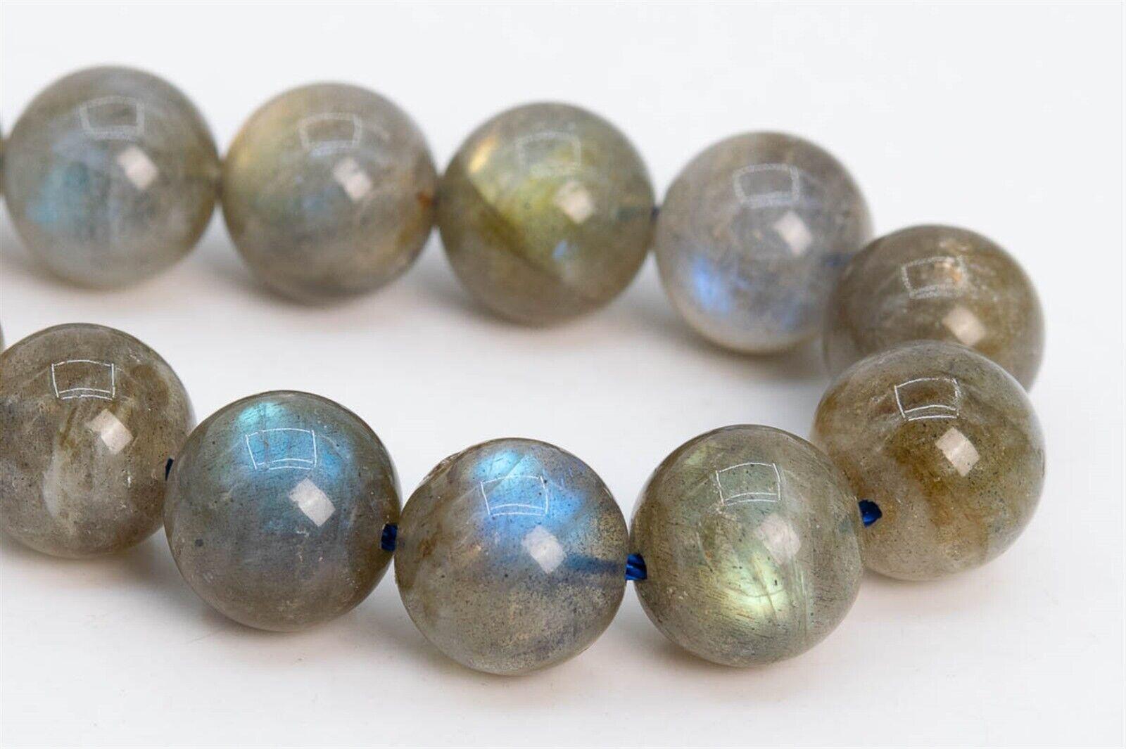 109830h-3081 Genuine Natural Gemstone Half Strand Round Loose Beads 7.5 9-10MM Gray Labradorite Beads Madagascar Grade A