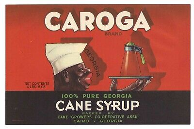 Used, CAROGA Brand, Cane Syrup, Cairo Black Americana *AN ORIGINAL CAN LABEL* 583 for sale  Chico