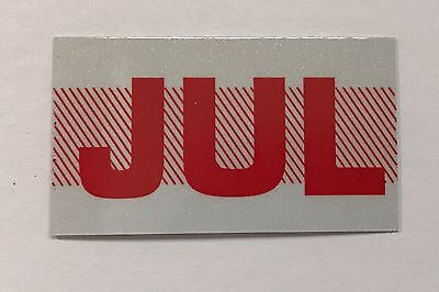 July California License Plate Month Registration Sticker, Red, YOM, CA DMV