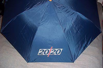 ABC News 20/20 Primetime Umbrella Button Pop-Up Full Size Compact 37