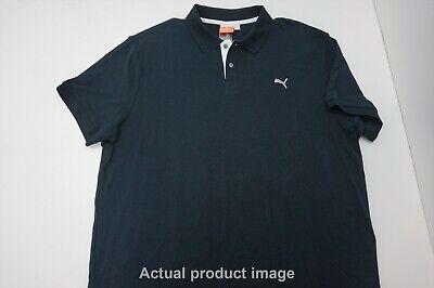 New Puma Golf Transdry Pique Polo Mens Size Xl Black 214A  Shirt Clothing