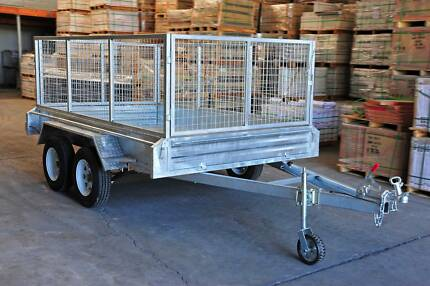 10x6 Fully Galvanised heavy duty Tandem Box Trailer 900 cage Underwood Logan Area Preview