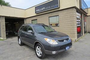 2012 Hyundai Veracruz Limited 7 Passenger, AWD, Blk Leather I...