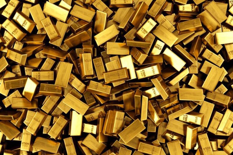 LOT OF 4 - 1 GRAIN 24k SOLID GOLD BAR .999 FINE ONE BID = 4 MINI BARS - BUY GOLD