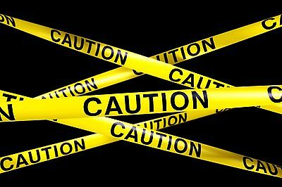 """SAFETY TAPE 3"""" X 50' CAUTION TAPE YELLOW HALLOWEEN PARTY DECORATIONS"""