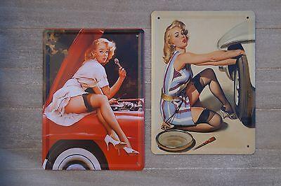 Blechschild Schild 15x21 Retro Vintage Reklame Blech Partykeller pin up Deko