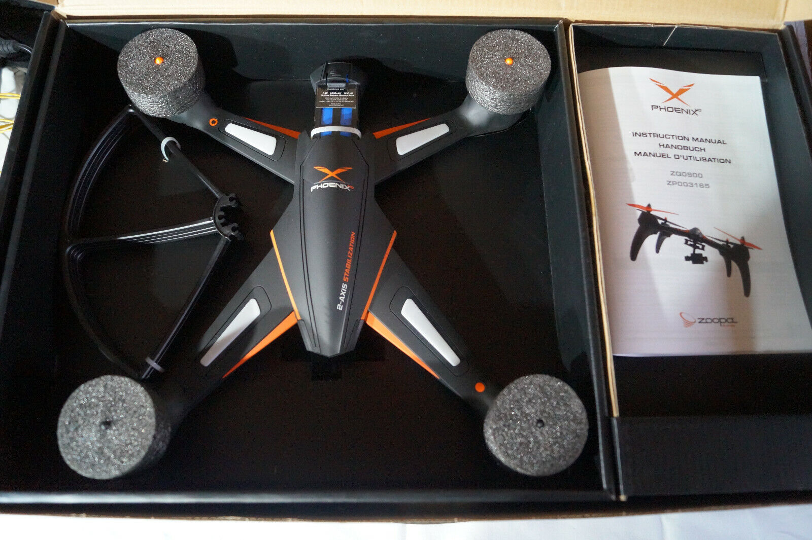 zoopa phoenix Hd Drohne Quadrocopter Copter Modellflug Cam Video Wifi
