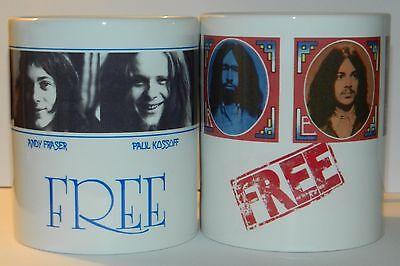 FREE / PAUL KOSSOFF - 'FREE LIVE & FREE' - SET OF 2 -11oz MUGS ****