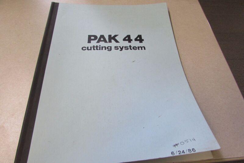 Thermadyne Thermal Dynamics PAK 44 Operating/Parts Manual