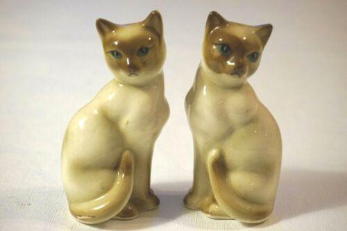 Beautiful Vintage Siamese Cat Salt & Pepper Shakers JAPAN