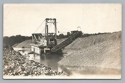 Gold Mining Dredge Rppc Las Plumas Ca Butte County Lake Oroville Flooded 1917