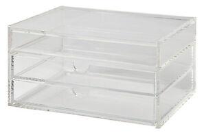 OSCO Desktop Organiser desk tidy drawers - clear acrylic