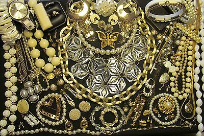 JL - 21  Mixed Vintage - Now Costume Jewelry Lot  65 pc