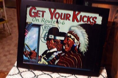 """Handsome Framed Art Print With The Message """"GET YOUR KICKS On Route 66"""" Arizona"""