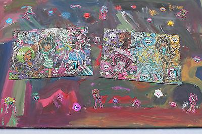 Monster High Bild Gemälde Unikat Wandbild Leinwandbild Keilrahmen - Monster High Bilder