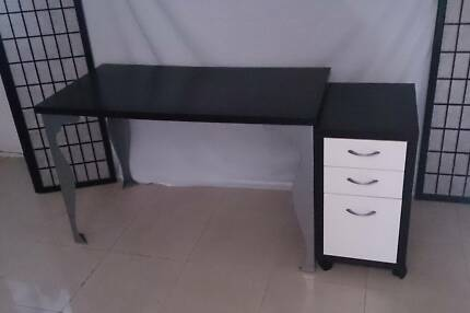 Modern Desk & Drawer Unit - Free Local Delivery Annandale Leichhardt Area Preview