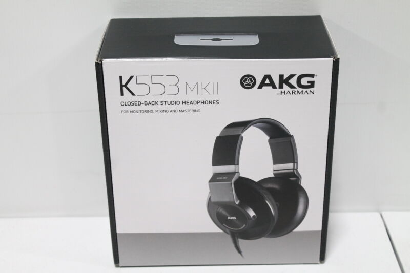 AKG K553 MKII Studio Isolation Over Ear of Closed-Back Headphones - Black