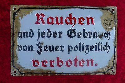 Original Blechschild, 30er Jahre, 30 x 20 cm