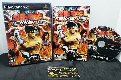 Tekken 5 (Sony PlayStation 2, 2005) PS2 Black Label Complete With Manual