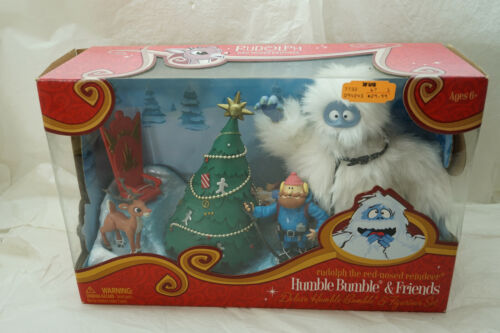 RUDOLPH RED NOSED REINDEER HUMBLE BUMBLE & FRIENDS FIGURINES SET NEW IN BOX