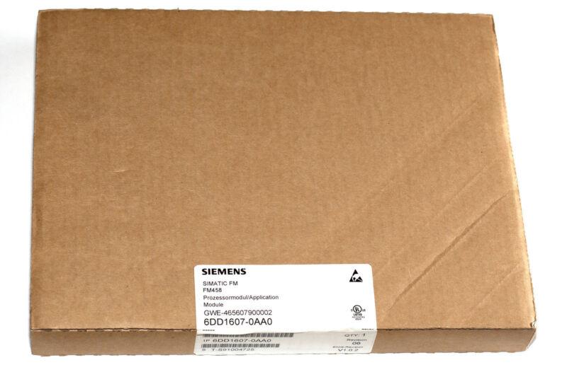 NEW Siemens Simatic S7-400 FM 458 APPLICATION MODULE 6DD1607-0AA0