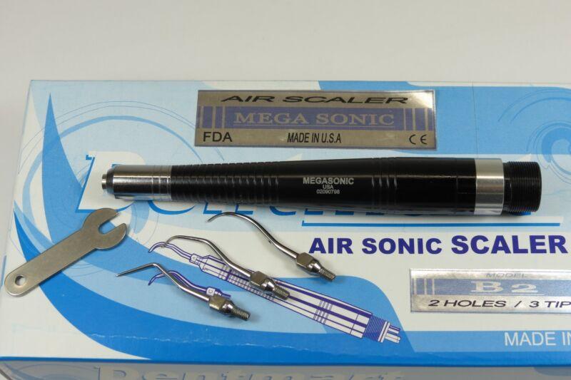Dental Air Scaler Handpiece 2 Holes B2 + 3 Tips MEGASONIC USA